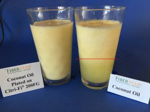 Coconut Fruit Smoothie plated Citri-Fi vs. Control